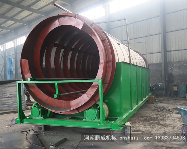 Dewatering drum screen
